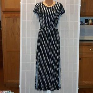 MICHAEL KORS Black & White Printed Maxi Dress XS